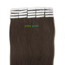 """16"""" 18"""" 20"""" 22"""" 24"""" 20pcs/set Tape in Remy Human Hair Extensions #02 Dark Brown"""