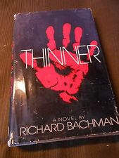 THINNER by Richard Bachman (before he was outed as STEPHEN KING) 1984 HC 1ST ed