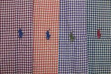 Polo Ralph Lauren LS Classic Fit Check Plaid Shirt Blue w/ Burgundy Pony $95 NWT