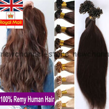 UK SALE 7A 100% Remy Human Hair Extension Nail U Tip Human Hair Extensions C062