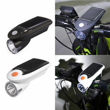 Solar Energy Rechargeable USB Bike Lights Bicycle LED Warning Lamp Flashlight