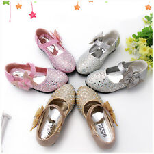 Princess Girls Kids Charming Sandals Casual Bling Little Heel Shoes Gift Fashion