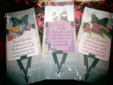Laminated Memorial Card & Butterfly Spike Holder-Grave-Funeral-Special Grandma