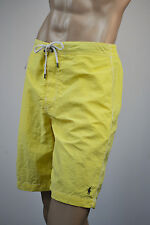 Ralph Lauren Oasis Yellow Swim Suit Surf Board Trunks/ Gray Pony-Polo Patch-NWT