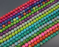 Wholesale Sea Sediment Jasper Gemstone Beads Round Loose Spacer Beads 8mm 15''