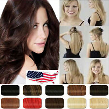 Cosplay 3/4 Full Head One Piece Long Curly Clip in on Hair Extensions Real Long
