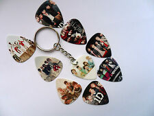 Guitar Pick // Plectrum Keyring with a ONE DIRECTION Pick Choice of NINE