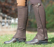 Shires Adults Amara Suede Half Chaps with Elasticated Calf and Padded Inner Leg