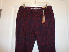 Womens Juniors MOSSIMO SUPPLY CO SKINNY LOW RISE Jeans ~ Black/Red Print ~ NWT's