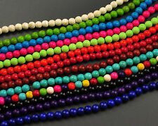 Wholesale Turquoise Gemstone Beads Round Loose Beads 6mm 8mm 10mm 12mm 15''