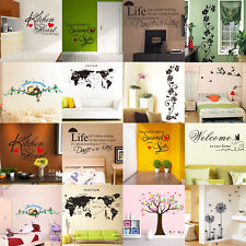 Lot Style Removable Sticker Art Wall Decal Paper Home Decal Wall Decor DIY