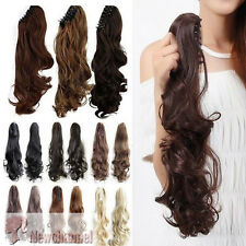 One Piece Jaw Ponytail Clip in Hair Extension Claw Pony tail clip on Extensions