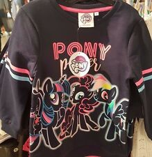 My Little Pony Girls Long Sleeve Pony Power Cotton Top Tshirt Age 7-13 BNWT