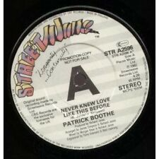 """PATRICK BOOTHE Never Knew Love Like This Before 7"""" VINYL UK Street Wave 1982"""