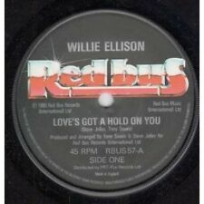 "WILLIE ELLISON Love's Got A Hold On You 7"" VINYL UK Red Bus 1980 B/W Love Out"