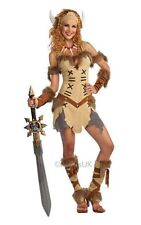 Adult Sexy Warrior Viking Princess Ladies Fancy Dress Hen Party Costume Outfit