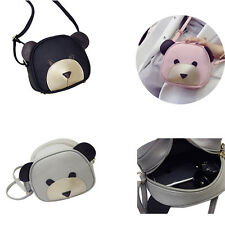1Pcs Cute bear face Messenger bag Girl's Handbags Women Shoulder Bag PU Leather
