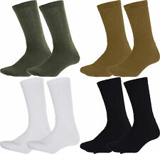 Athletic Physical Training Hiking Military PT Crew Socks Pair USA Made