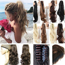 US Thick Ponytail Clip in Hair Extension Claw Pony tail Clip on Hairpiece As Rea