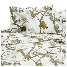 Realtree® AP Snow Camo Sheets ~ White Camouflage Hunting Sheet Set ~ 6 Sizes