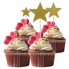 7 Pieces Glitter Mixed Stars Cupcake Picks Cake Toppers Party Decoration
