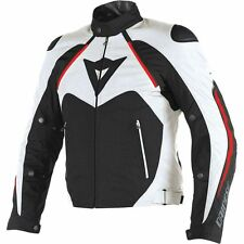 Dainese Hawker D-Dry Mens Textile Motorcycle Jacket Black/White/Red