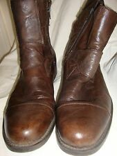 NATHA STUDIO men's boots size 9 1/2 brown leather pre-owned