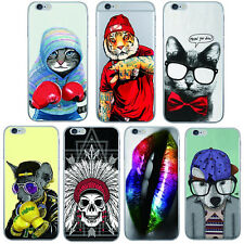 1Pcs Silicon For iPhone Ultra Soft Case Animals Phone Shell Cover Mobile TPU