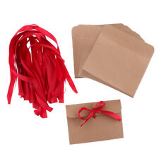 50pcs Recycled Blank Kraft Paper Envelopes for Wedding Invites Greeting Card