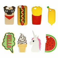 3D Cartoon Kawaii Food Hot Cute Silicone Back Case Cover For Apple iPhone 6 6S
