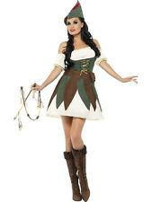 ADULT WOMENS FEVER SEXY OUTLAW ROBIN HOOD SMIFFYS FANCY DRESS COSTUME OUTFIT