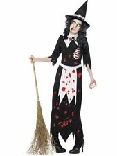 Adult Authentic Salem Zombie Witch Ladies Halloween Fancy Dress Costume Outfit