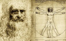 "037 Blueprint - Da Vinci Notebook 22""x14"" Poster"