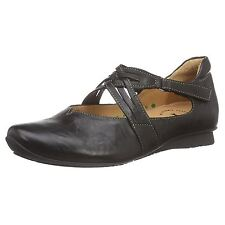 Think Chilli 89108 Black Womens Leather Mary Jane Ballet Flats Shoes All Size