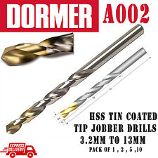 Dormer A002 HSS tin metric jobber drills high speed steel twist Best drills bits