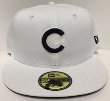 Official New Era 59Fifty MLB Cap Chicago Cubs White Fitted Hat Sold Out