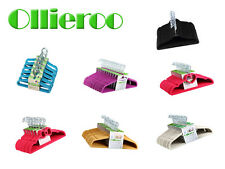 Ollieroo 60 Pack 100 PC Slim Space Saving Non-slip Velvet Velour Hangers