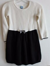 baby Gap NWT Girl's Mixed Knit Sweater Dress - Ivory & Black