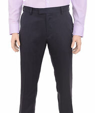 Kenneth Cole Reaction Slim Fit Solid Charcoal Gray Flat Front