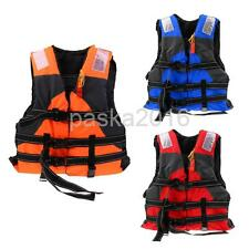 Adult Safety Life Jacket Sports Swimming Floating Buoyancy Aid Vest with Whistle