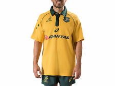Asics Wallabies Traditional Short Sleeve Jersey - Gold + Free AUS Delivery!
