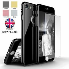 Acrylic Hybrid 360° Hard Ultra Thin Case With Tempered Glass Cover For iPhone 6