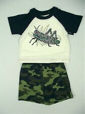 BOYS 2 PIECE CAMOUFLAGE SHORTS AND T-SHIRT SET AGE 1.5-2/3-4/4-5 YEARS  BNWT