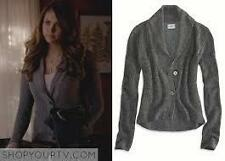 AE American Eagle Shawl Collar Cardigan in Gray ASO Elena Gilbert M L NWT
