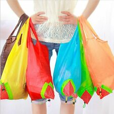 Strawberry Foldable Shopping Tote Reusable Eco Friendly Grocery Bag Carrier New