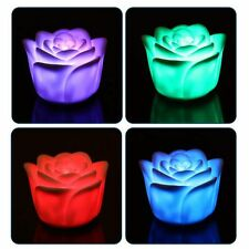 7 Color Changing Rose Flower Night Light Rose Shape Candle LED Night Romantic