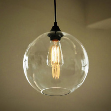 Glass Shade Vintage Industrial Fitting Ceiling Pendant Light Bar Lamp Chandelier