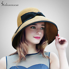 new summer wide brim beach women sun straw hat elegant cap uv protection
