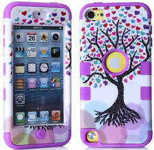 For iPod Touch 5th & 6th Gen - Hard & Soft Rubber Hybrid Armor Impact Case Skin