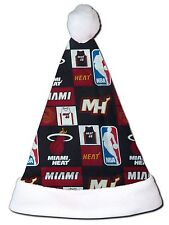 NEW NBA Miami Heat Christmas Basketball Santa Hat Personalized 18""